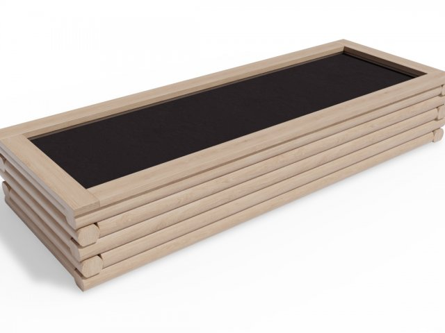 Vyvýšený záhon 90x250 - obdelníkový