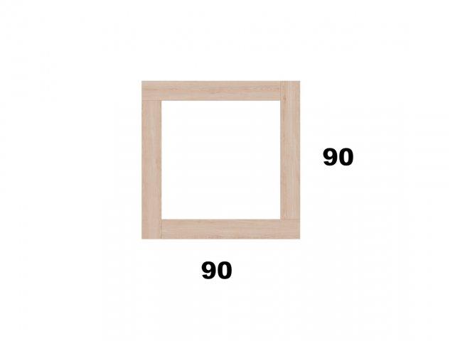 Vyvýšený záhon 90x90 - čtvercový, malý