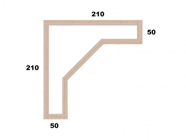 Typ 4 - Vyvýšený záhon L210x210