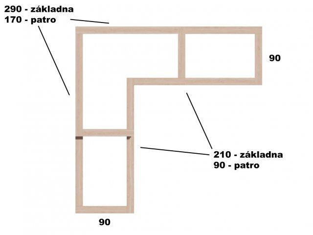 Typ 6 - Vyvýšený záhon L290x290