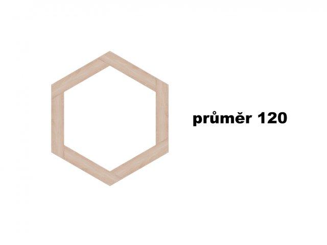 Vyvýšený záhon - šestistranný o průměru 120 cm