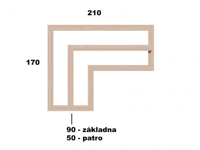 Typ 5 - Vyvýšený záhon L210x170