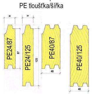 Palubka pero a drážka 24 x 125